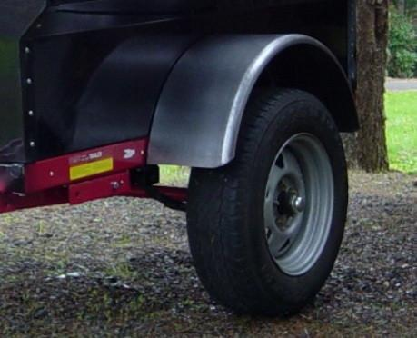Trailer Fenders Round Steel  - Compact Camping Trailers