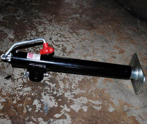 Trailer Tongue Jack Tall, Weld-on Swivel/Removable - Compact Camping Trailers