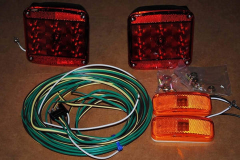 Trailer Square LED Light Package - Compact Camping Trailers