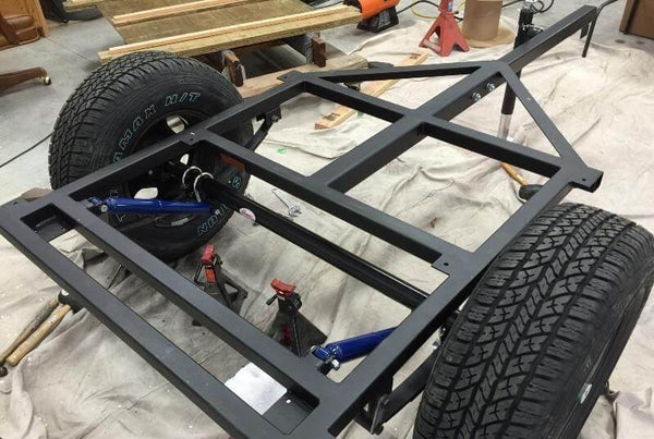 Home-Built Camping Trailer Welded Frame Kits - DIY Compact Camping Trailers