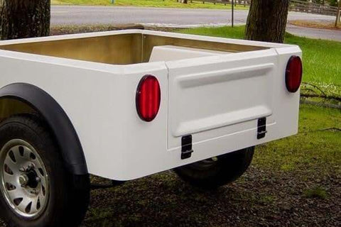 CJ Jeep Style Tailgate - Compact Camping Trailers