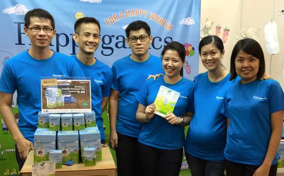 Happyganics in baby fair