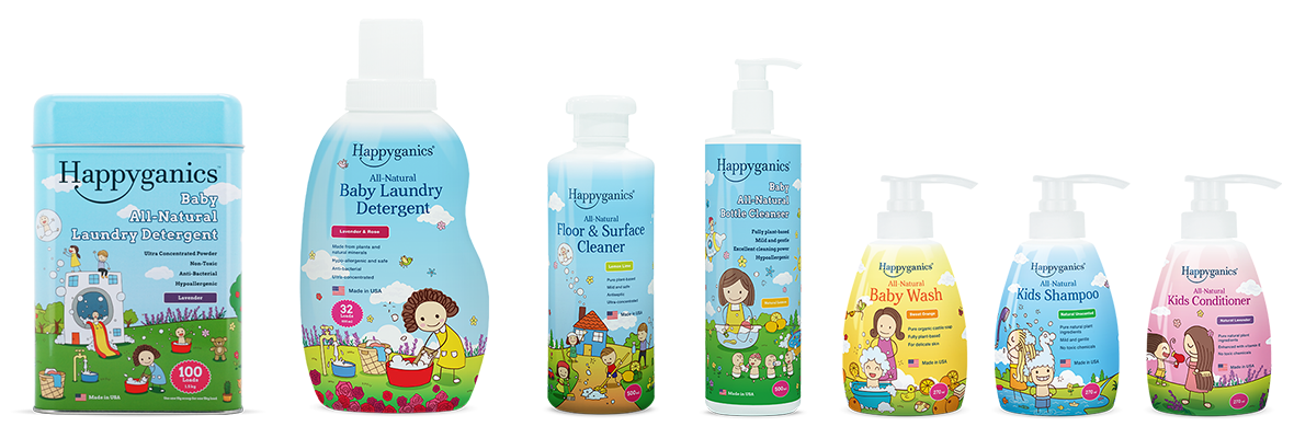 Happyganics range of products