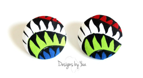 Large 'Tamale' Button Earrings