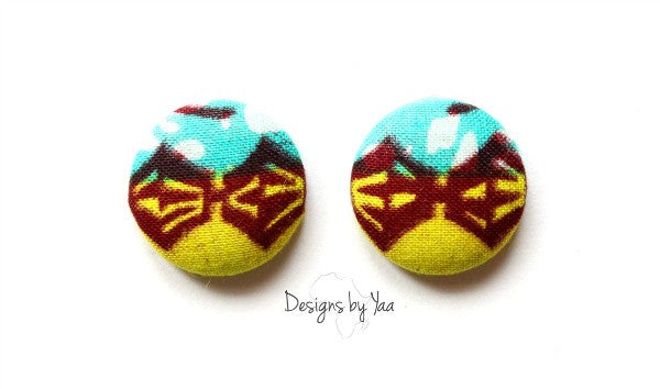Small Drums Button Earring