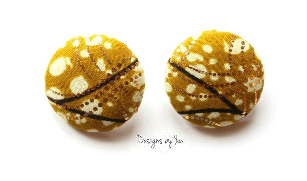 Large 'Goldie' Button Earrings