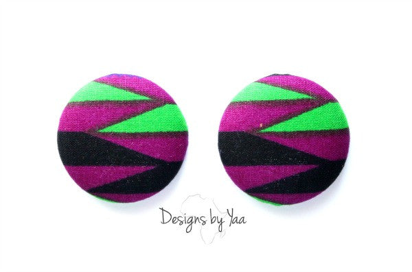 Large 'Alika' Button Earrings