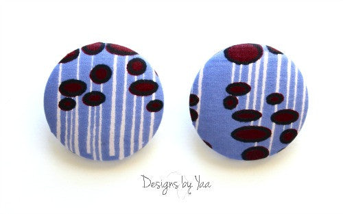 Large 'Lilac' Button Earrings