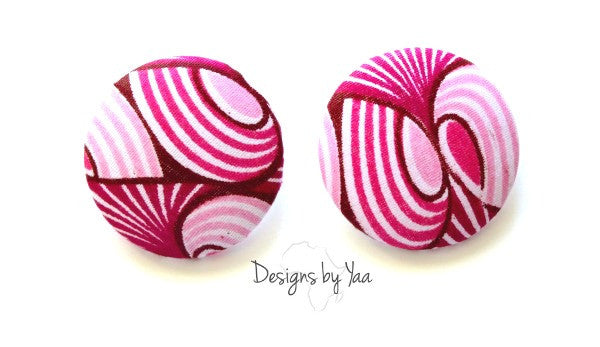 XL Pretty in Pink Ankara Earrings