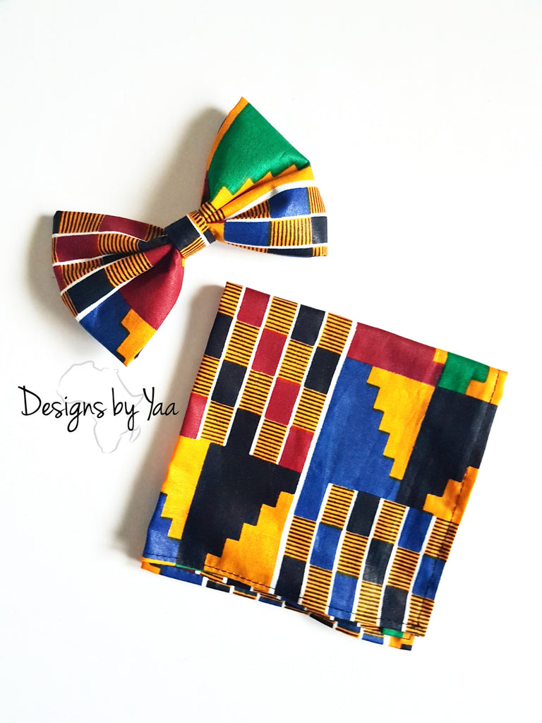 Bow Tie and Pocket Square - Kente