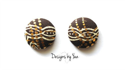 Small Brown Sugar Button Earrings