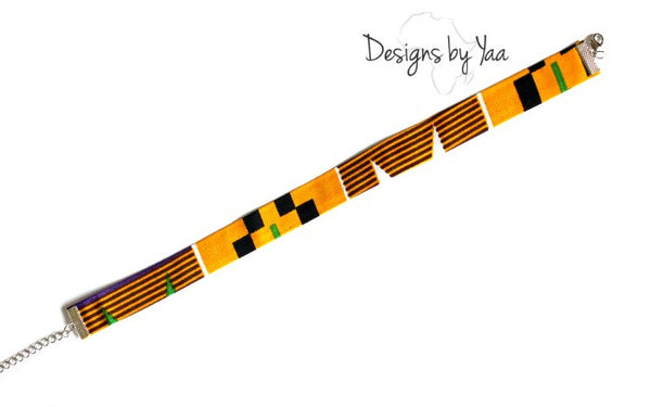 Purple Kente Choker
