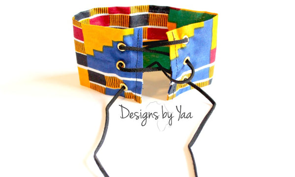 Kente Lace Up Choker