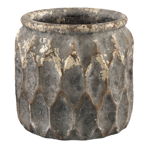 Tender grey Cement round pot xl