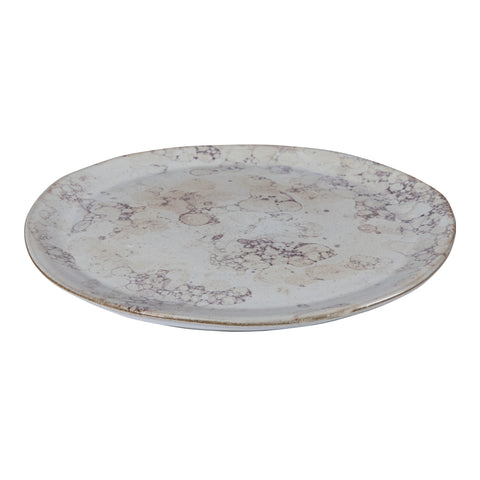 Lagos cream Glazed ceramic salad plate