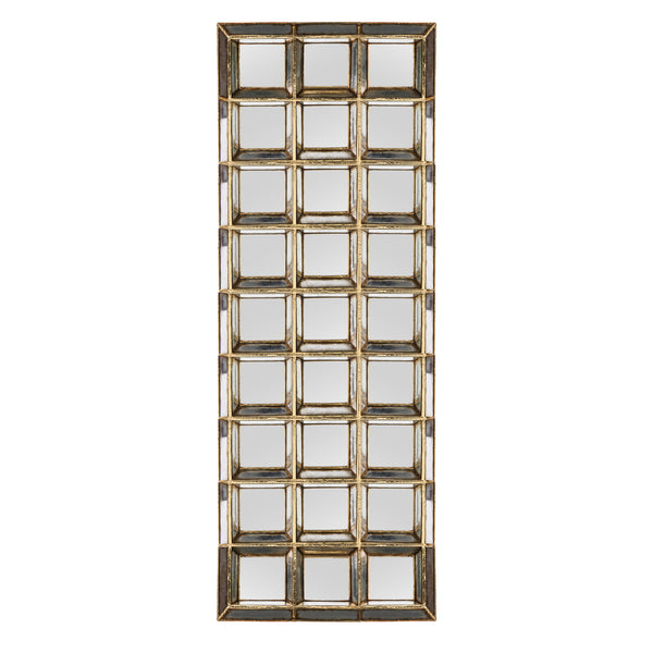 Darwin gold poly rectangle of twentyseven mirrors