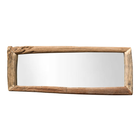Milu wood natural mirror rectangle L