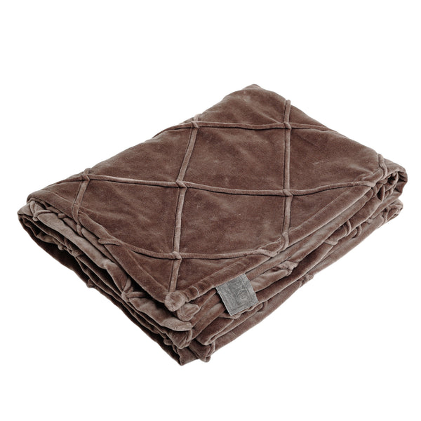 Bing brown velvet bed cover