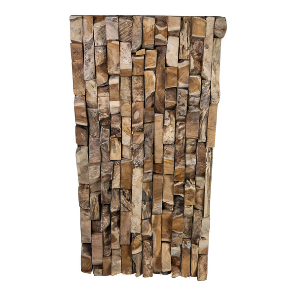 Mimi wood natural pieces wall panel rectangle