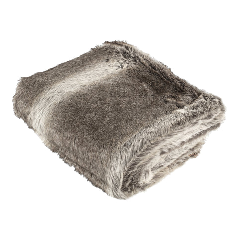 Softly brown fake fur blanket