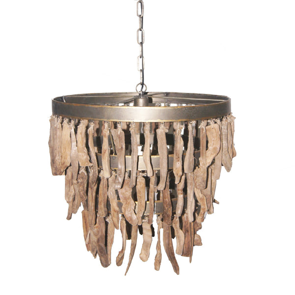 branch brown wooden hanging lamp