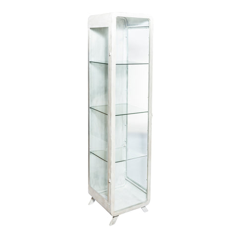 Simple metaal vitrine kast wit