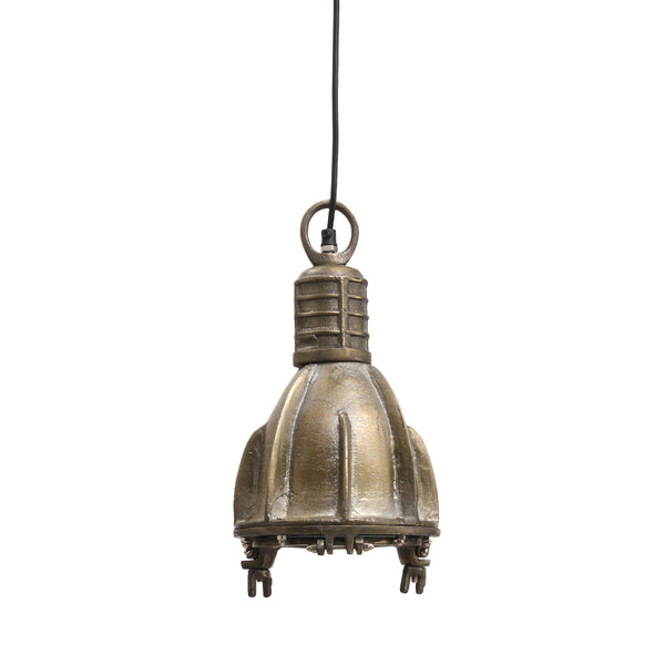 Hanglamp Aluminum Champagne industrieel rond