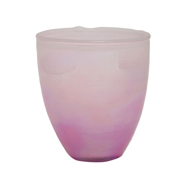 Dina pink pearl Glass round tealight s