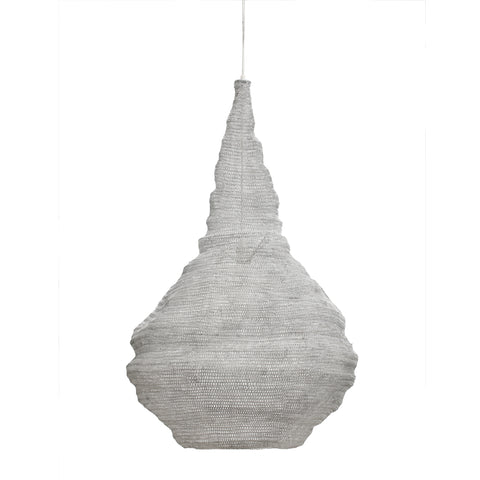 Ferro Iron white steel hanging lamp bulb L