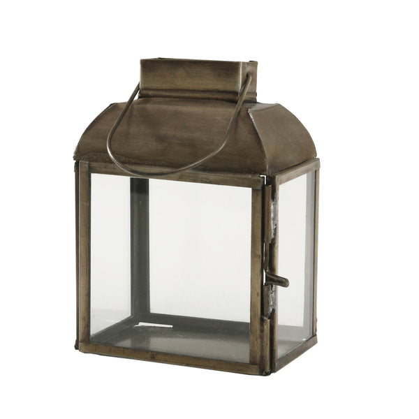 Chuck brass Iron mini lantern rectangle