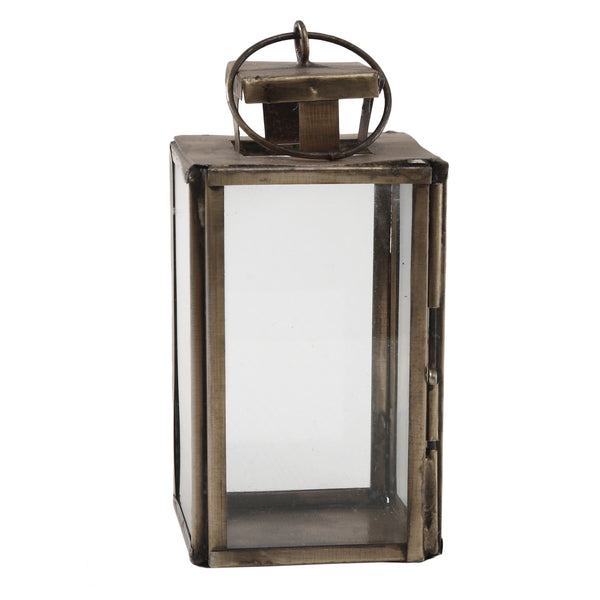 Chuck brass Iron mini lantern square