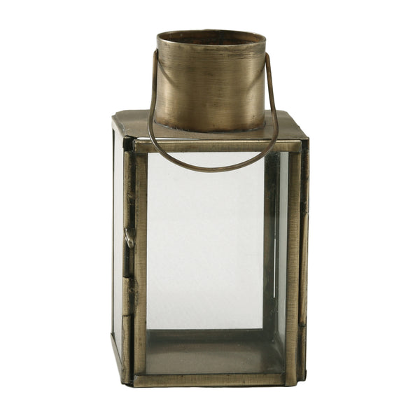 Chuck brass Iron mini lantern square open top