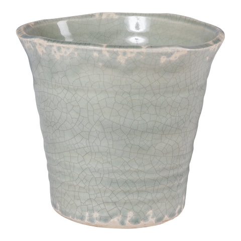 Prato light green Glazed ceramic pot wide xs