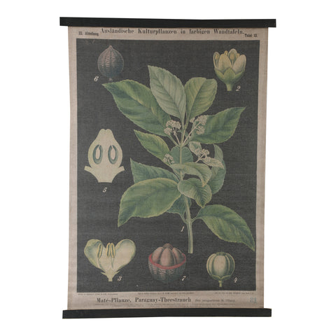 Wald Painting on Linen black rectangle bloem
