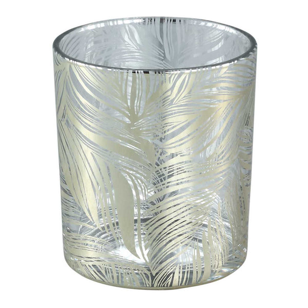 Marsh clear Glass tealight gold feather Leave L