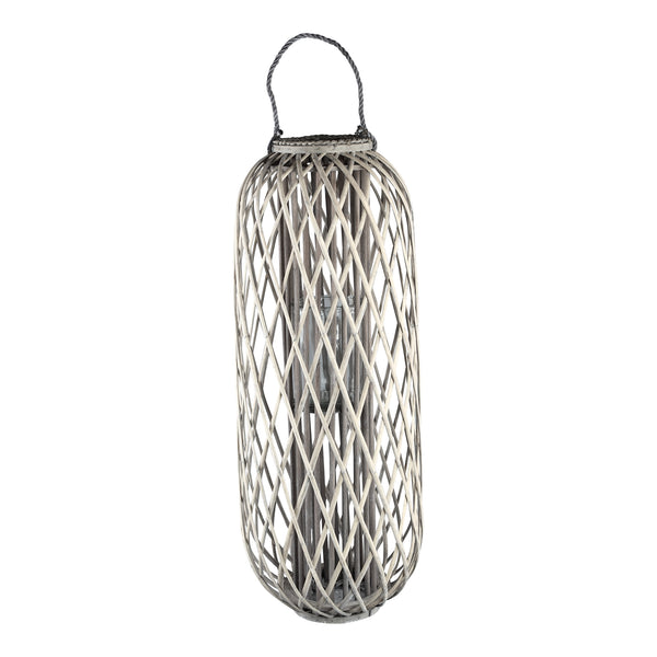 Kady natural wooden lantern straight round high m
