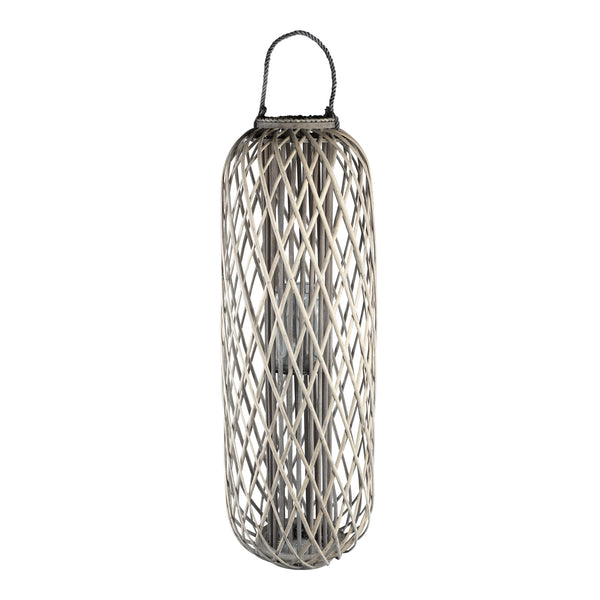Kady natural wooden lantern straight round high L