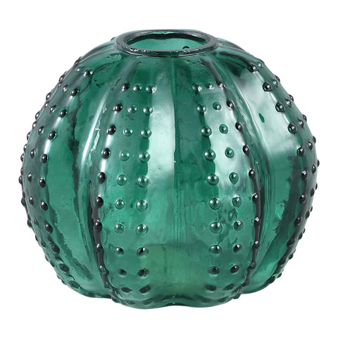 Nava dark green Glass vase cactus s