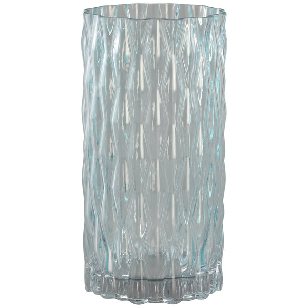 Gentle light blue clear cylinder Glass vase m
