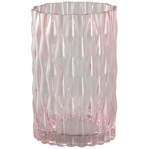 Gentle pink clear cylinder Glass vase s