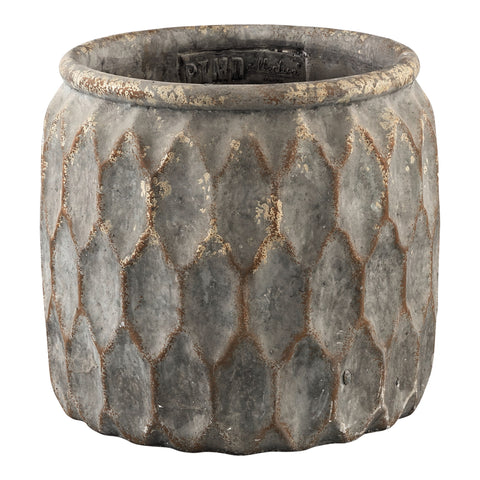 Tender grey Cement round big pot s