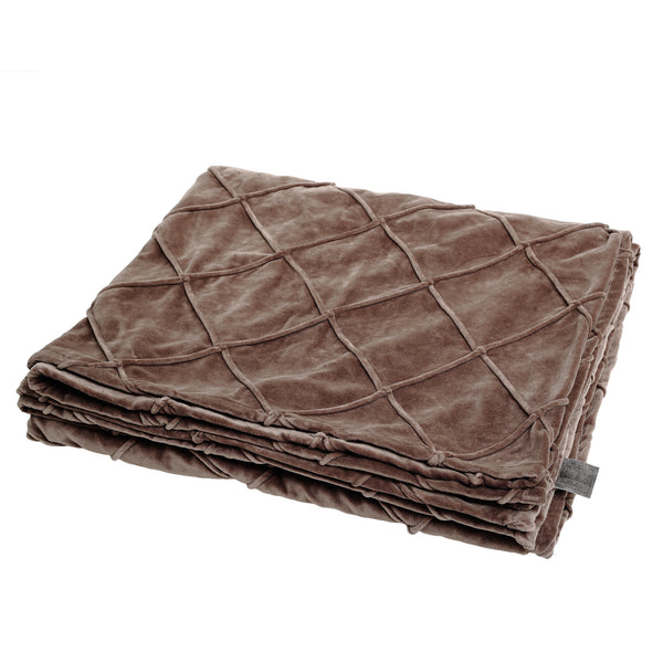 Bing brown velvet blanket