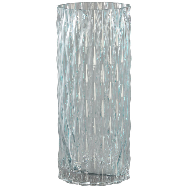 Gentle light blue clear cylinder Glass vase L