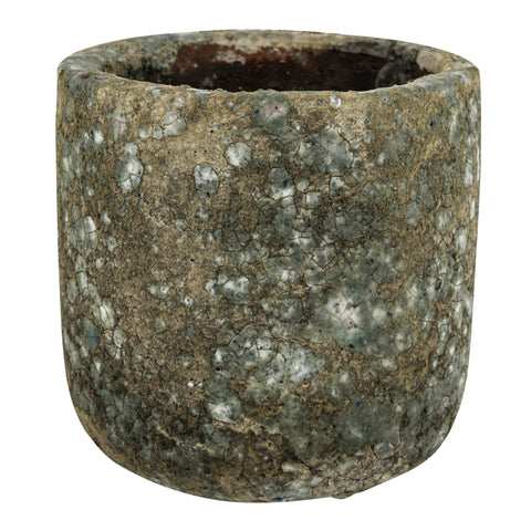 Crud natural ceramic pot high round s