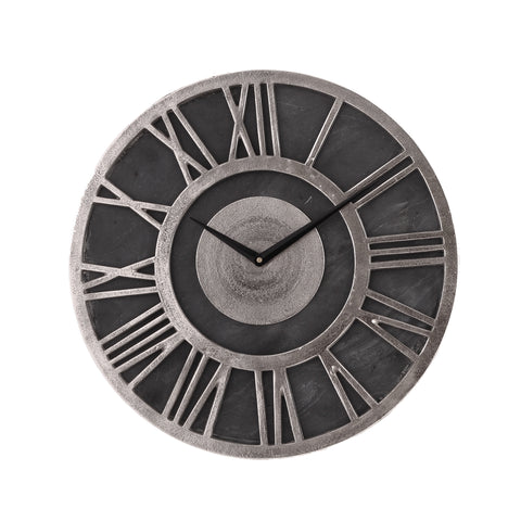 North clock Slate round aluminium rough