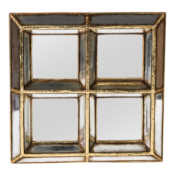 Darwin gold poly square of four mirrors