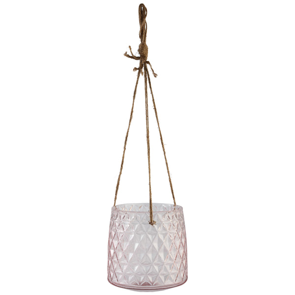 Gentle pink clear hanging vase s