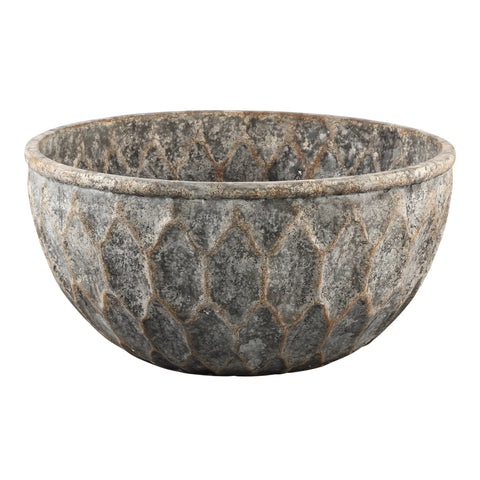 Tender grey Cement round bowl L