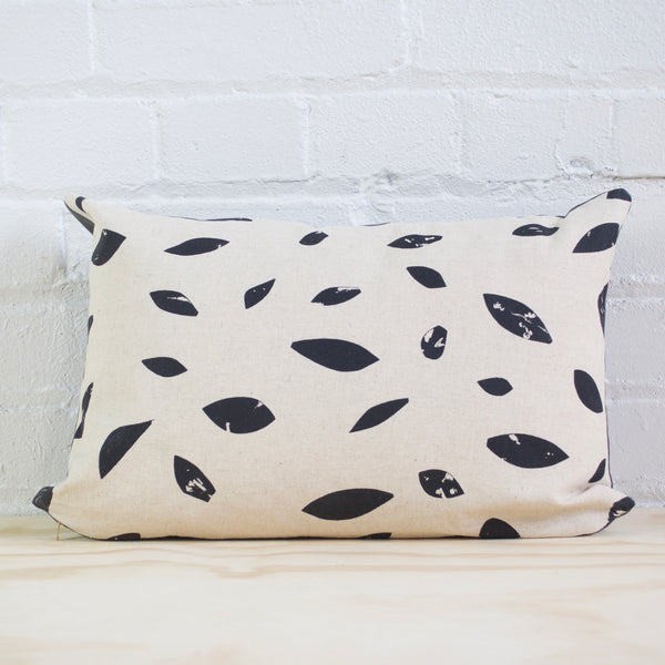 Black Leaf Pillow