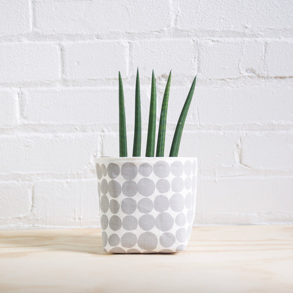 Grey Dots Basket